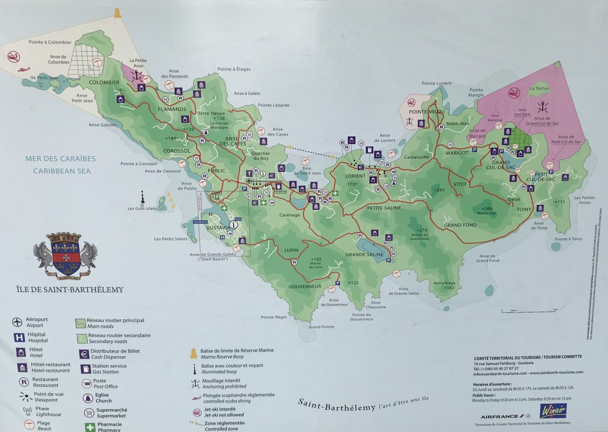 Map of St. Barts