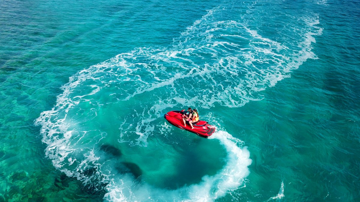 Jet Skiing in the Caribbean